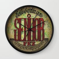 lettering Wall Clocks featuring Lettering by MarcosDevelop