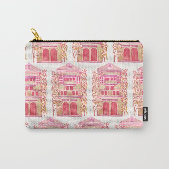 Tropical House – Pink Ombré Carry-All Pouch