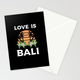 Bali Indonesia Love Sunset Palm Stationery Cards