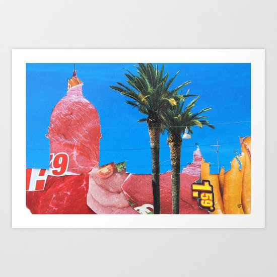 Meat Dream Party Land Series · Meat Desert City Dream Town Art Print