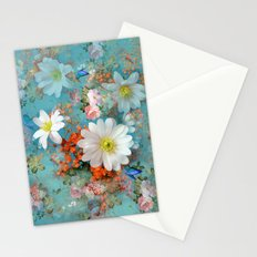romantic flowers and butterflies Stationery Cards