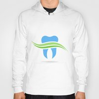 tooth Hoodies featuring Tooth by aleksander1
