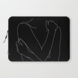 Nude figure line drawing illustration - Emie black Laptop Sleeve