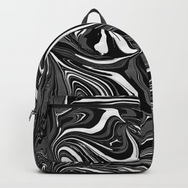 Black White Grey Marble Backpack