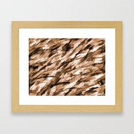 Beige Designer Camo Framed Art Print