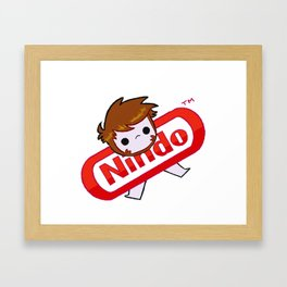 NINDO-plain Framed Art Print