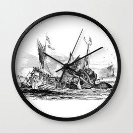 1810 vintage nautical octopus steampunk kraken sea monster drawing print Denys de Montfort retro Wall Clock