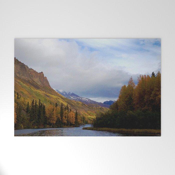 Matanuska River Alaska Welcome Mat