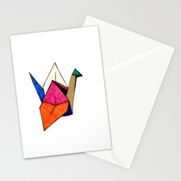 Colorful Origami Crane  Stationery Cards