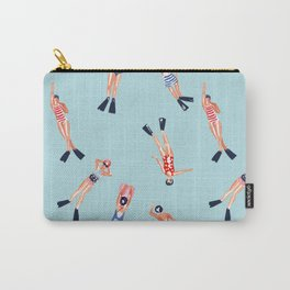 swimmers with fins pattern Carry-All Pouch