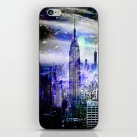new york skyline iPhone & iPod Skins featuring New York Skyline by haroulita