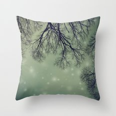 Alien Invader Trees Throw Pillow