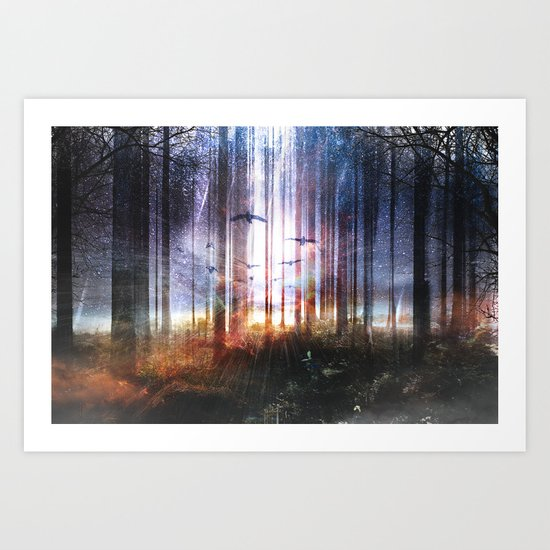 Absinthe forest Art Print