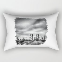 Interstate 74 Bridge - IL/IA Rectangular Pillow