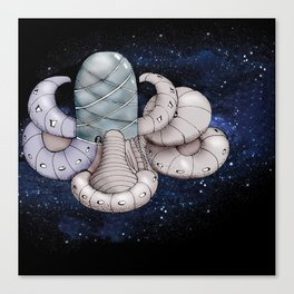 Space station from the fantastic world of the future . artwork Canvas Print