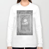 cage Long Sleeve T-shirts featuring Cloud Cage by Mehdi Elkorchi