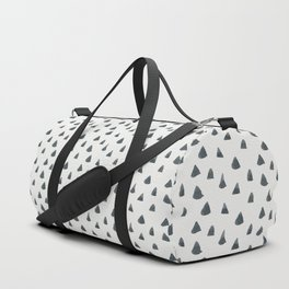 Geometrical black white hand painted watercolor triangles Duffle Bag