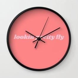 looking pretty fly Wall Clock