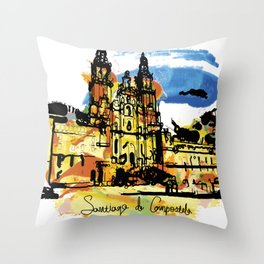 santiago  camino Throw Pillow