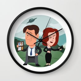 Mulder and Scully Wall Clock