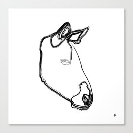 """ Animals Collection "" - Zebra Canvas Print"