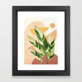Summer Banana Leaves Framed Art Print