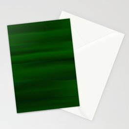 Emerald Green and Black Abstract Stationery Cards