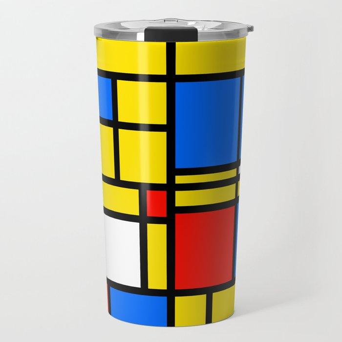 Mondrian Style Travel Mug