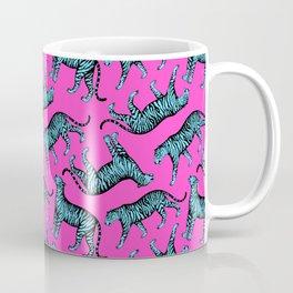 Tigers (Magenta and Blue) Coffee Mug