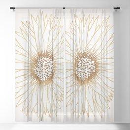 Gold Sunflower Sheer Curtain