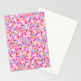 Pink Donut with Sprinkles Stationery Cards