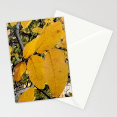 Yellow Leaves of Autumn Stationery Cards
