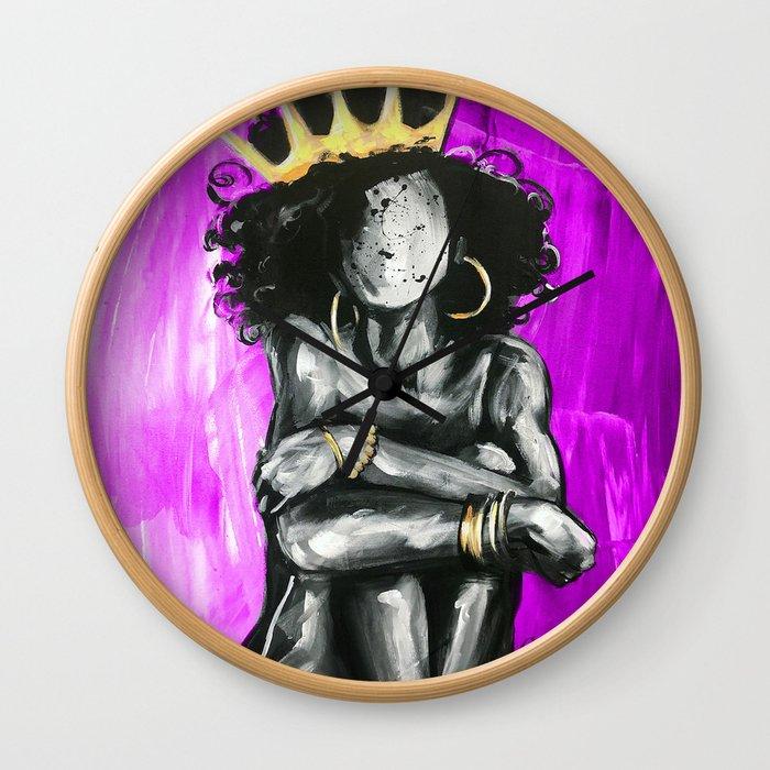 Naturally Queen IX PINK Wall Clock