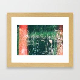 between two burns Framed Art Print