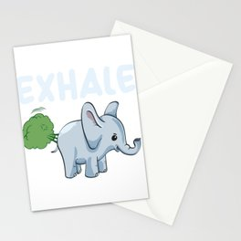 Funny Elephant Exhale Stationery Cards