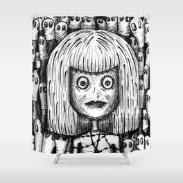 """""""sorry, it's not our fault"""" by Anxiety and Gretel Shower Curtain"""