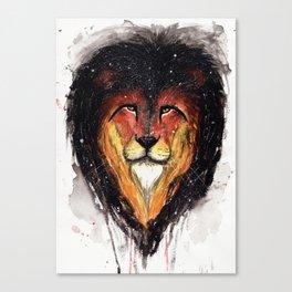 Fire Lion. Canvas Print