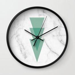 Marble Scandinavian Design Geometric Triangle Wall Clock