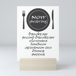 Now Servin Mini Art Print