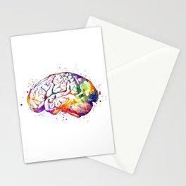 Brain Art Human Brain Anatomy Art Brain Watercolor Anatomy Decor Anatomical Brain Medical Art Stationery Cards