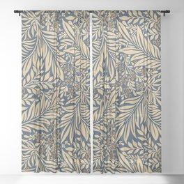 Blue Vintage Floral Pattern Sheer Curtain