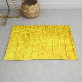 Croco leather effect - yellow Rug