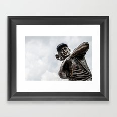 Ron Santo Statue - Wrigley Field Framed Art Print
