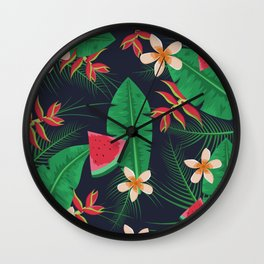 Tropical Watermelon Wall Clock