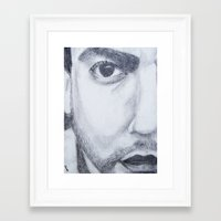 dave matthews Framed Art Prints featuring Dave Matthews drawing by shelbmcintyre