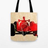 Formula Race Car Tote Bag