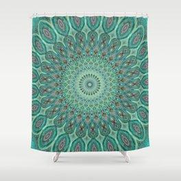 Mint Dreams Mandala Shower Curtain