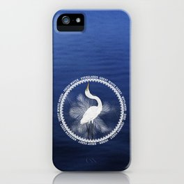 Great Egret Wreath iPhone Case