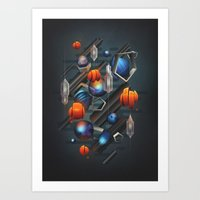 geo Art Prints featuring Geo by Tomas Brechler