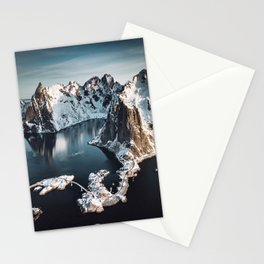 aerial view of the lofoten islands Stationery Cards